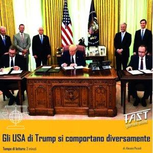 Gli USA di Trump si comportano diversamente
