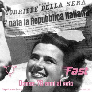 Donne: 76 anni al voto.