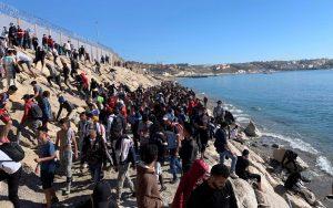 L'assalto dei migranti a Ceuta